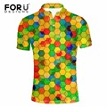 FORUDESIGNS High Quality Men Polo Shirt 3D Printing Shirt for Male Summer Breathable Short Sleeve Polo Shirt Man Clothing Camisa