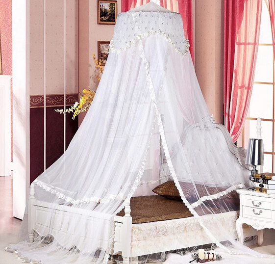 Luxury Bed Dome Canopy Lace Insect Bed Canopy Princess Round Mosquito Net Single Double King Size Queen Mosquiteiro Bed Tent-in Mosquito Net from Home ... & Luxury Bed Dome Canopy Lace Insect Bed Canopy Princess Round ...