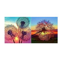 2 Pack 5D DIY Dandelion Full Drill Diamond Painting Rhinestone Cross Stitch Kits Home Decor 12x12in