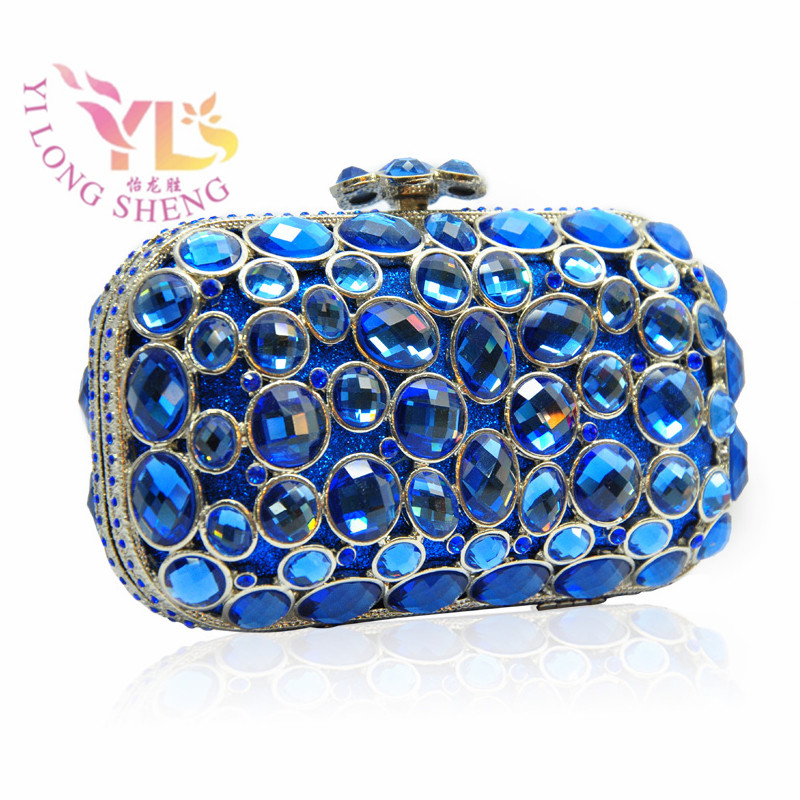 цена Women Clutches Designer Evening Bags Most Wanted Hot Stylish Diamond Evening Box Black Blue Silver YLS-G03