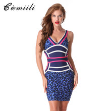 f8452dd0dd4a86a CIEMIILI 2018 Летняя женская обувь пикантные Бандажное платье Вечеринка  Bodycon Клубные Спагетти ремень v-образным вырезом Vesti.