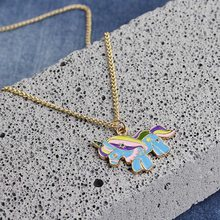 Unicorn Shaped Pendant Necklace