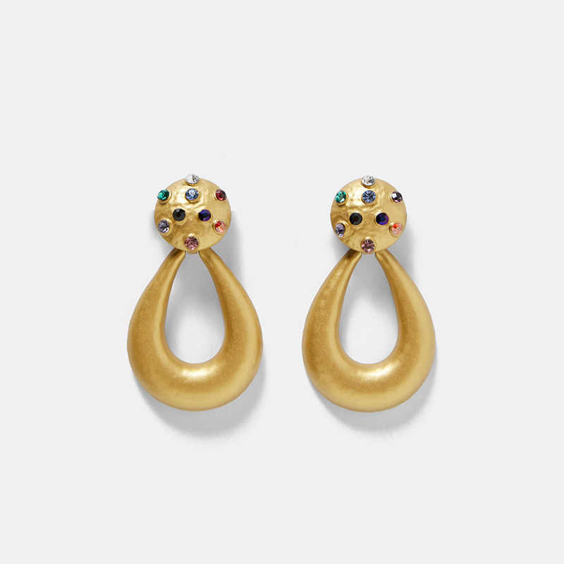Fashion ZA Resin Water Drop Earring For Women Wedding Gold Jewelry Boho Acrylic Statement Drop Earrings Sets Christmas Gifts