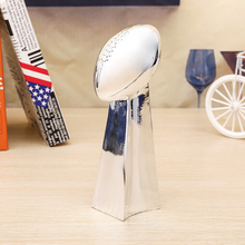 Free Shipping 1:1 Full Size 53CM Vince Lombardi Trophy Super Bowl Trophy 22 Inches High Weight 7 Pounds 2019 Best Gift high quality crown resin trophy champion trophy custom king glory trophy souvenir free shipping