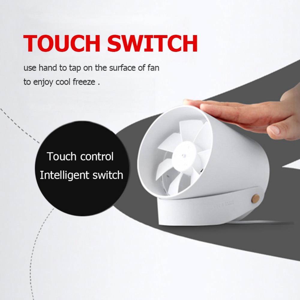 Original Xiaomi VH Mini Fan Portable Ventiladors USB Mijia Fan Ultra Quiet Smart Touch Summer Cooler Double Leaf Desktop Fan