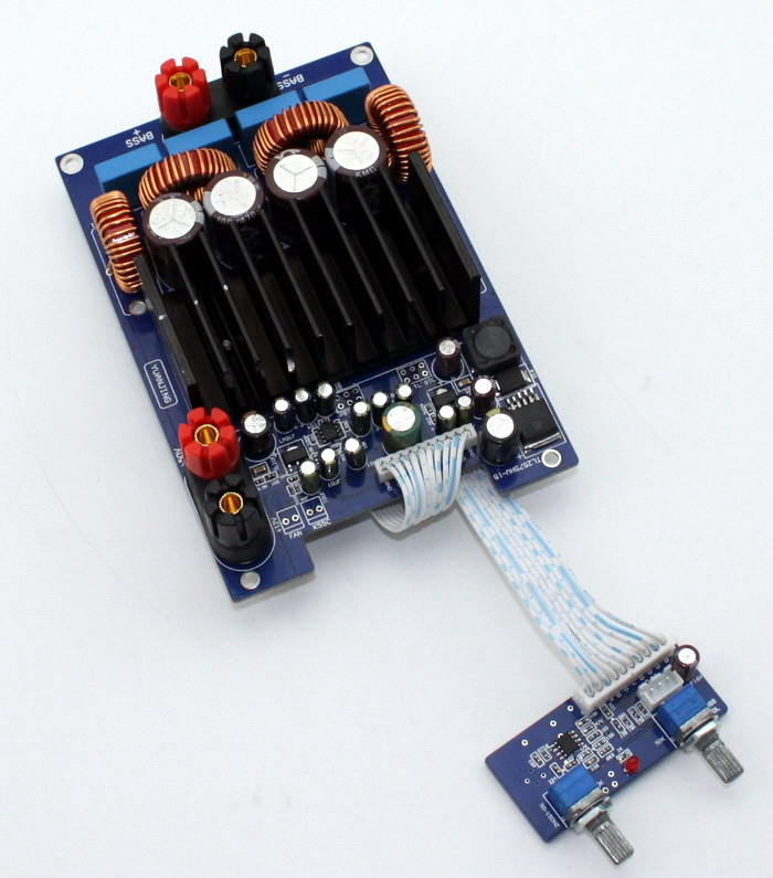 Free-Shipping-TAS5630-OPA1632DR-TL072-Subwoofer-600W-4ohm-Mono-SUB-Amplifier-completed-board-preamplifier-stereo-input