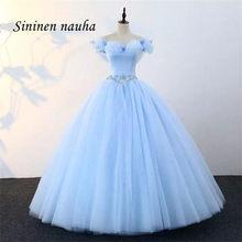 Luz azul quinceanera vestidos de baile de formatura vestido de festa fora do ombro frisado dança bola vestidos de 15 anos doce 16 vestidos 151