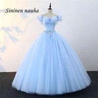 Light Blue Quinceanera Dresses Prom Party Dress Off Shoulder Beaded Dance Ball Gown Vestidos De 15 Anos Sweet 16 Dresses 151