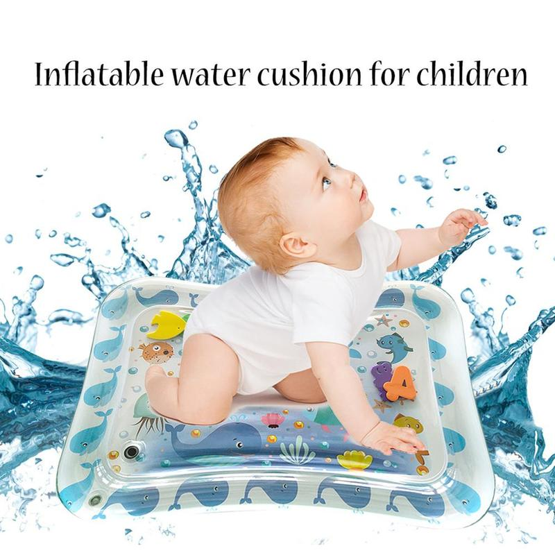 Inflatable Baby Water Pad Cushion Children's Fun Activity Game Mate Center Sensory Stimulation Skills Baby Belly Time Game Pad