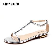 Summer Flat Sandals T Strip Ladies Bohemia Beach Flip Flops Shoes Gladiator Women Shoes Sandles platform Zapatos Mujer Sandalias