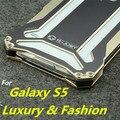 Caso para samsung galaxy s5 i9600 s5 dropproof alumínio deluxe escudo Protetor tampa do caso À Prova de Choque Para Galaxy S5 G9000 Gancho RJ