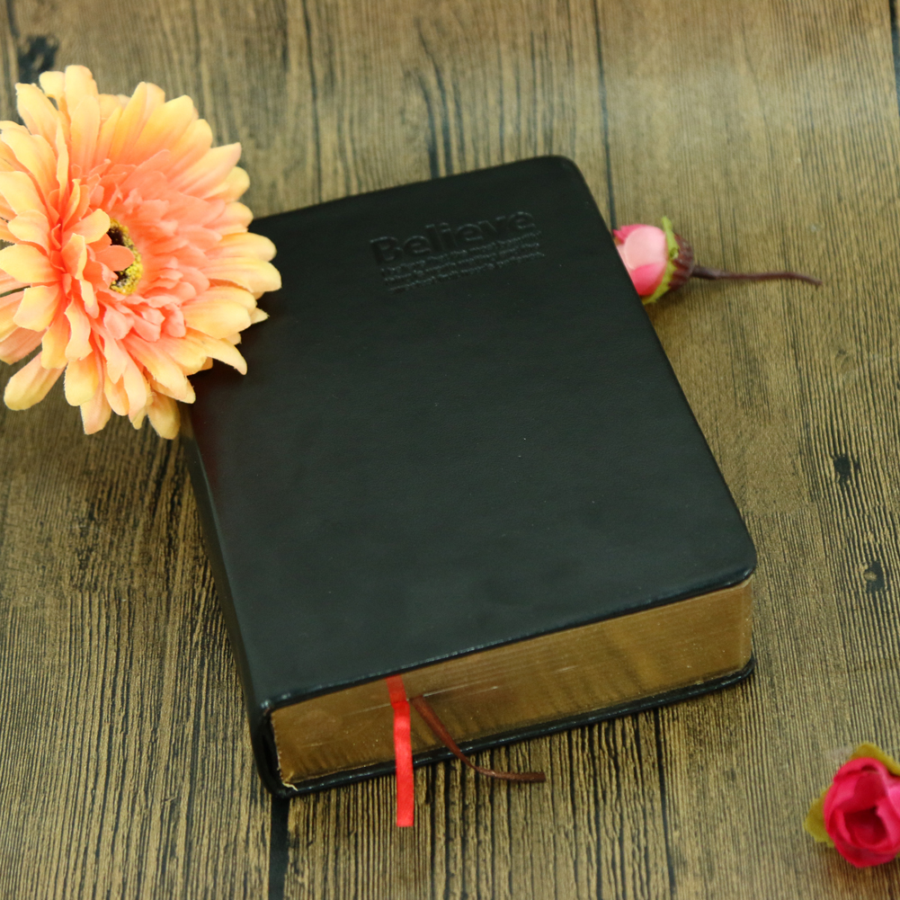 Book Cover Paper Thickness ~ Party favor leather cover bible notebook vintage thick