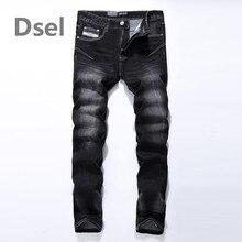 Logo Brand Dsel Mens Jeans High Quality Stripe Slim Black Jeans For Men Fashion Designer Denim Skinny Jeans Men 702