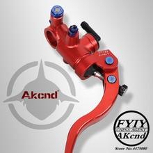 AKCND Motorcycle Brake Clutch Master Cylinder Hydraulic pump handle For Yamaha R6 R1 Fz6 Gsxr600 Honda Kawasaki Victory