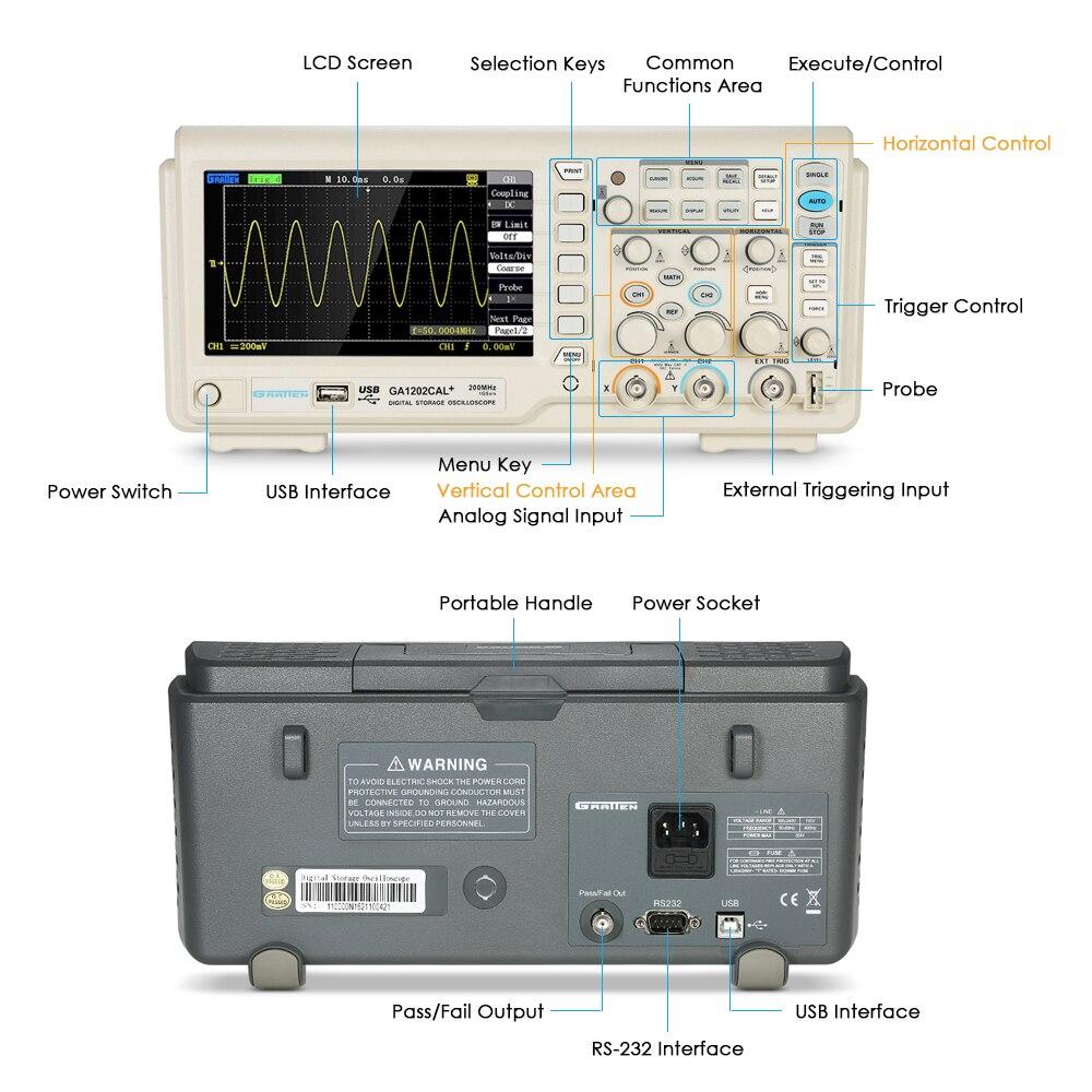 digital oscilloscope scope meter 2ch 200mhz bandwidth 8 bit 1gsa s rh aliexpress com agilent dso6034a oscilloscope user manual agilent 54621a oscilloscope user manual