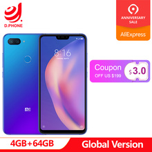Küresel Sürüm Xiao mi mi 8 Lite 4 GB 64 GB mi 8 Lite Snapdragon 660 AIE 6.26