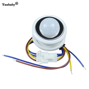40mm PIR Infrared Ray Motion Sensor Switch time delay adjustable mode detector switching(China)