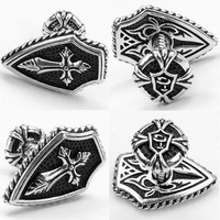 SPARTA White Gold Electroplated Cross Cufflinks men's Cuff Links + Free Shipping !!! metal buttons