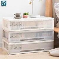 Underwear Storage Box Drawer Bra Household Socks Household Organization Sundries Three in one Multi section Plastic White
