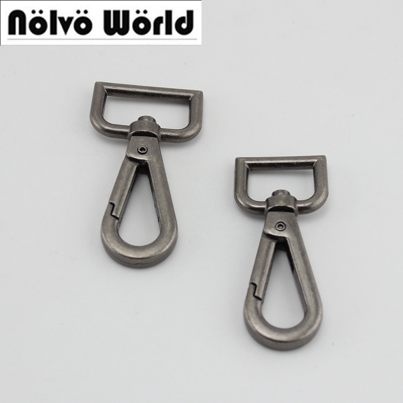 60pcs 10pcs 25mm 20mm New Old Silver Trigger Snap Hook Hand Bag Gold Swivel Clasp Hooks Hardware Accessory DIY High Quality