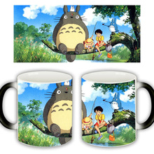 Useber New Anime Style Lovely Style  Miyazaki  Totoro  A Grade Ceramic Cup Discoloration Mugs SUNNY