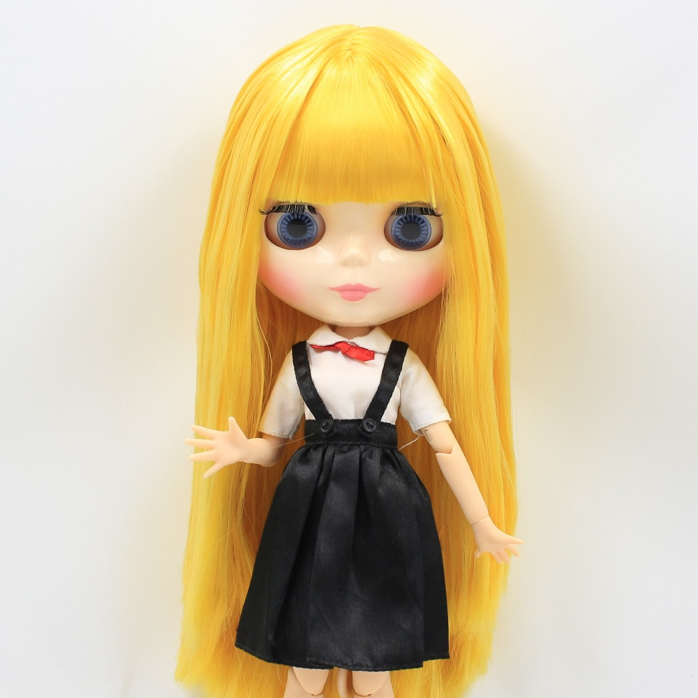 free shipping factory blyth doll joint body yellow golden hair bjd toy gift 260BL0749 цена