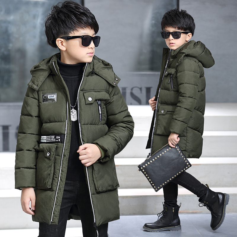 Free shipping boy children's clothing casual cartoon wadded zipper jacket winter child plus thickening hooded long outerwear 277 children s clothing male child wadded jacket autumn and winter medium long 2017 child plus velvet thickening outerwear baby top