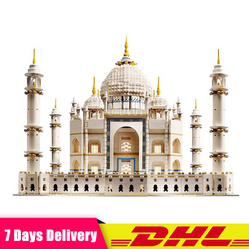 DHL LEPIN 17001 5952 PCS The Taj Mahal Model Educational Building Kits Blocks Bricks Compatible with 10189 Toy As Children Gift new lepin 16009 1151pcs queen anne s revenge pirates of the caribbean building blocks set compatible legoed with 4195 children