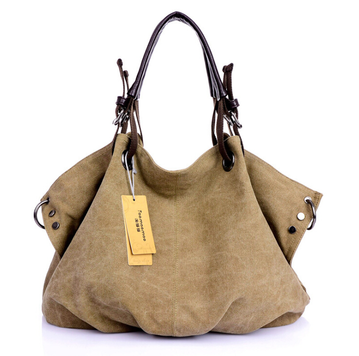 High Quality Canvas Women Handbag Casual Large Capacity Hobos Bag Hot Sell Female Totes Bolsas Trapeze Ruched Solid Shoulder Bag high quality travel canvas women handbag casual large capacity hobos bag hot sell female totes bolsas ruched solid shoulder bag