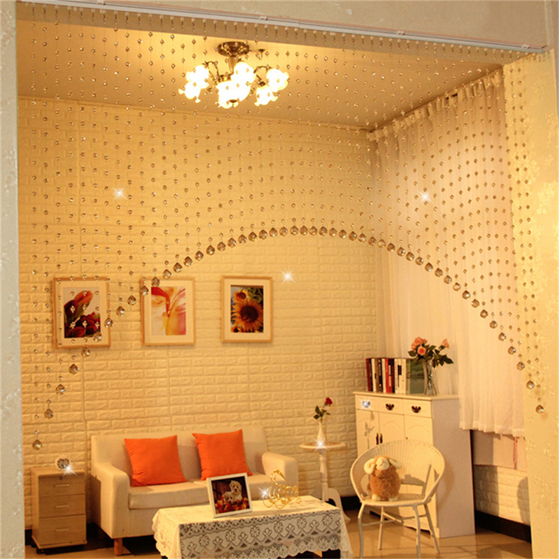 Arch Shape Decor A Set Of Acrylic Crystal Beads Curtain Window Home  Decoration In Curtains From Home U0026 Garden On Aliexpress.com | Alibaba Group
