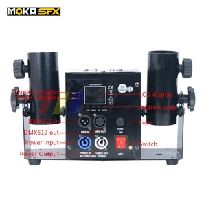 Image 2 - Duplo tiro streamter lançador dmx confetti máquina spray colorido papel atirador casamento