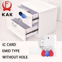 KAK Sensor Lock EMID IC Card Sensor Digital Drawer Card Lock DIY Intelligent Electronic Invisible Hidden Cabinet Lock Hardware
