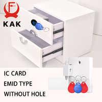 KAK Sensor Lock EMID IC Card Sensor Digital Drawer Card Lock DIY Intelligent Electronic Invisible Hidden Cabinet Lock Hardware