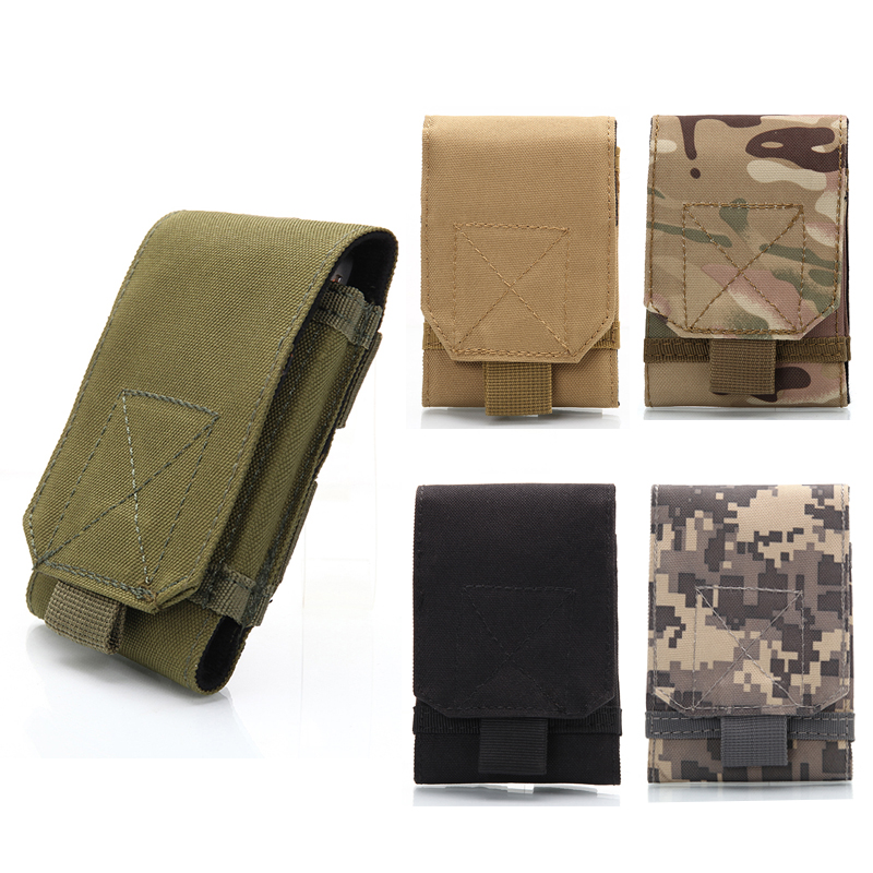 2018 Outdoor Bag Tactical Holster MOLLE Camouflage Bag Pouch Holster Cover Case Mobile Phone (20L For 18*10cm Other For 14*9cm)