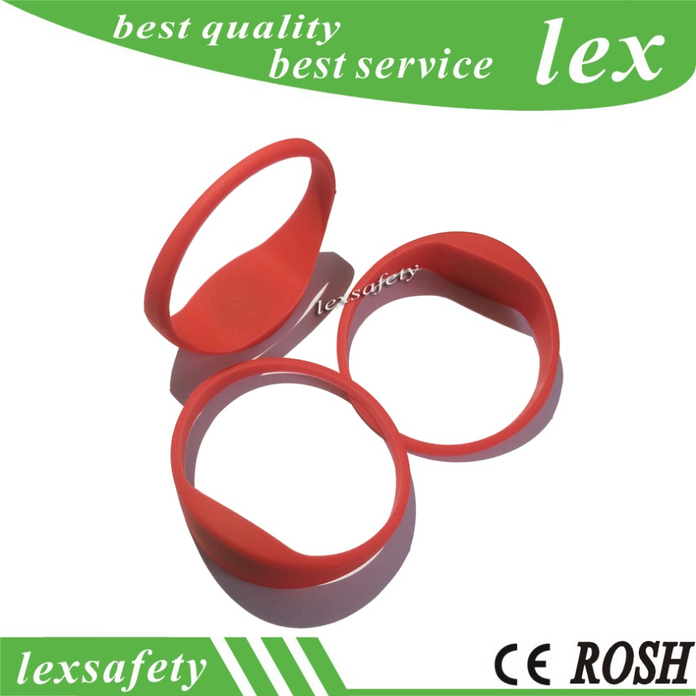 10pcs waterpoof writable 125khz t5577 best smart bracelet rfid silicone wristband tag for access control