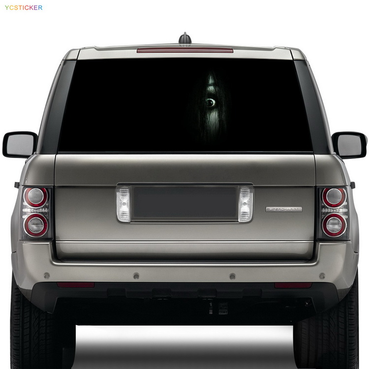 free shipping car high beam ghost sticker car rear windshield see through decoration decal sticker with water proof 2 pc free shipping rear sticker hilux off road decal for toyota hilux decals badges detailing sticker
