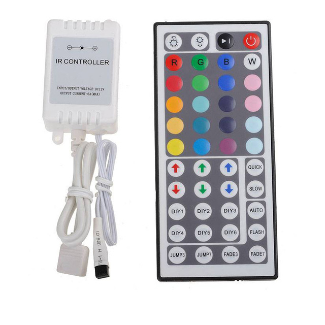 DC 12V 6A 44 Key IR Remote Controller for SMD 2835 5050 3528 RGB LED Strip Light Free Shipping