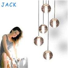 LED Crystal Glass Ball Pendant Lamp Meteor Rain Light Meteoric Shower Stair Bar Droplight Chandelier Lighting AC110-240V