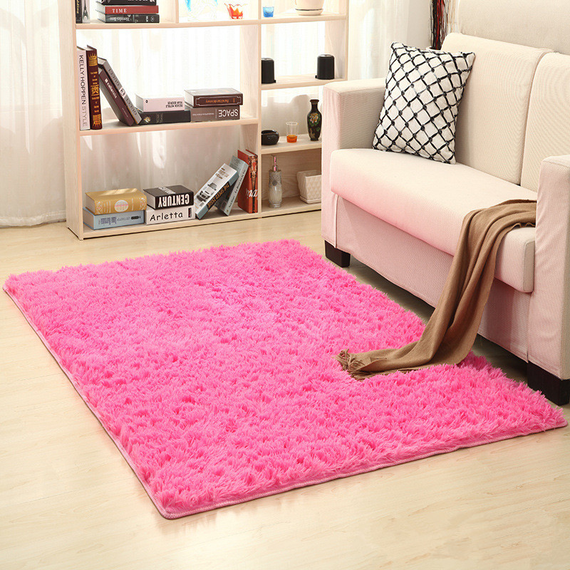 Long Hair 160cm X 200cm Thickened Washed Silk Hair Non-slip Carpet Living Room Coffee Table Blanket Bedroom Carpet Yoga Rugs