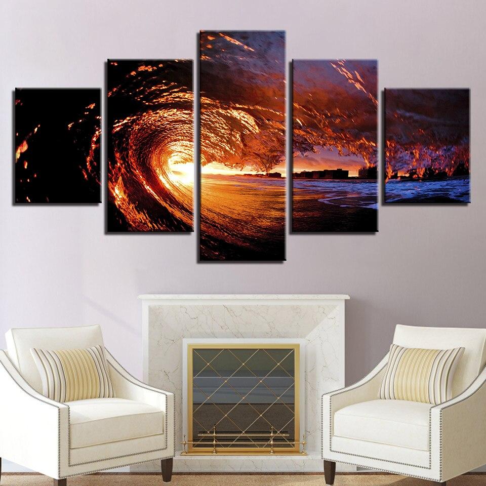Gemälde Wohnzimmer, leinwand bilder wohnzimmer hd druckt gemälde dekoration rahmen 5, Design ideen