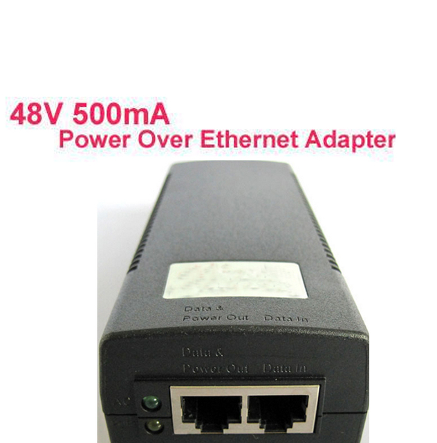 48V 500mA Single Port 24W Power Over Ethernet Adapter IEEE 802.3af(Gigabit) compliant,POE power adaptor 802.11n Support