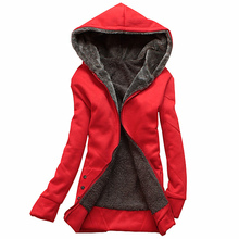 2016 Fanshion Winter Jacket Women Hoodies Long Sleeve Plus Size Thin Parka Mujer Cotton-padded Winter Jacket Hooded