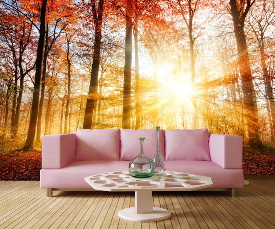 Custom mural,papel de parede,Autumn Forests Nature wallpapers,restaurant  living room sofa TV wall bedroom kitchen 3d wallpaper custom children wallpaper multicolored crayons 3d cartoon mural for living room bedroom hotel backdrop vinyl papel de parede