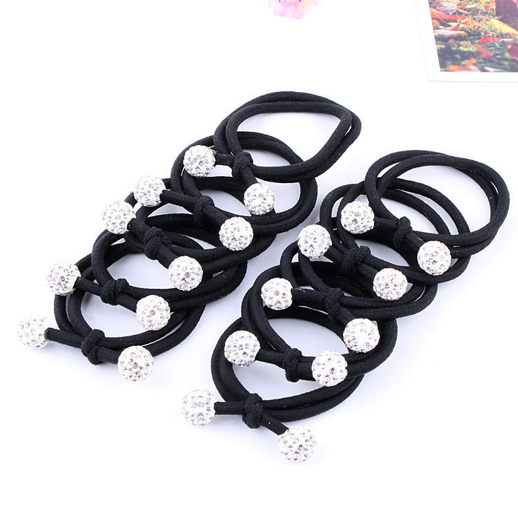 10Pcs Simple Black Headband Flower Heart Bow Hair Accessories for Women Girl Elastic Hair Bands Ponytail Holder Rubber Band Gum in Women 39 s Hair Accessories from Apparel Accessories