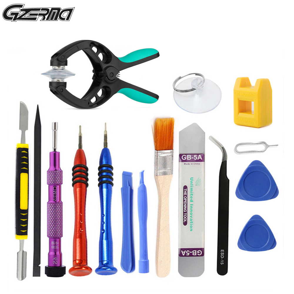 16 PCS Mobile Phone Repair Disassembly Tools Kit Opening Screen Screwdrivers Sets For IPhone 5 6 Smartphone Hand Tool Set