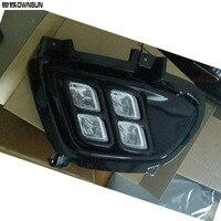 Ownsun Brand New Updated LED Daytime Running Lights DRL With Black Fog Light Cover For Kia