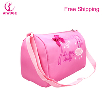 New Fashion Kids Ballet Dance Bag Pink Princess Sling Crossbody Bag Girls Korean Waterproof Diesel Bags