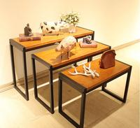The High And Low Stage Of The Clothing Store The Vintage Real Wood Display Table Shoe