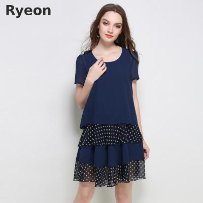 0a48eab45f4 Ryeon Spring Knitted Jumper Dress Sweater Dress Preppy V-neck Retro So