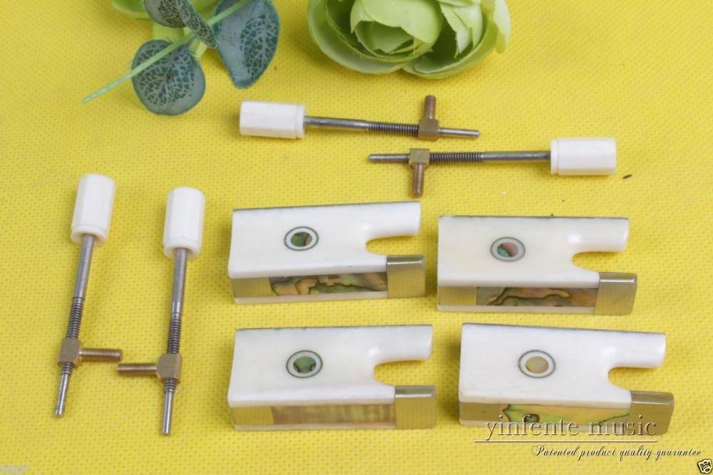 ФОТО New violin bow parts,5 set Top grade violin bow frog Strong Nice Inlay #610